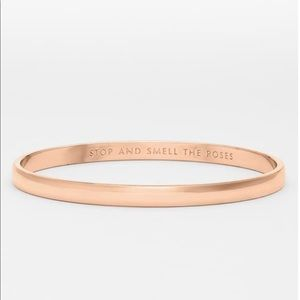 'stop and smell the roses' Kate Spade bangle